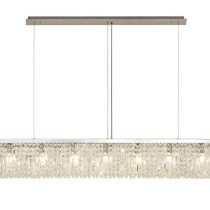 138x9cm Linear Pendant Chandelier, 7 Light E14