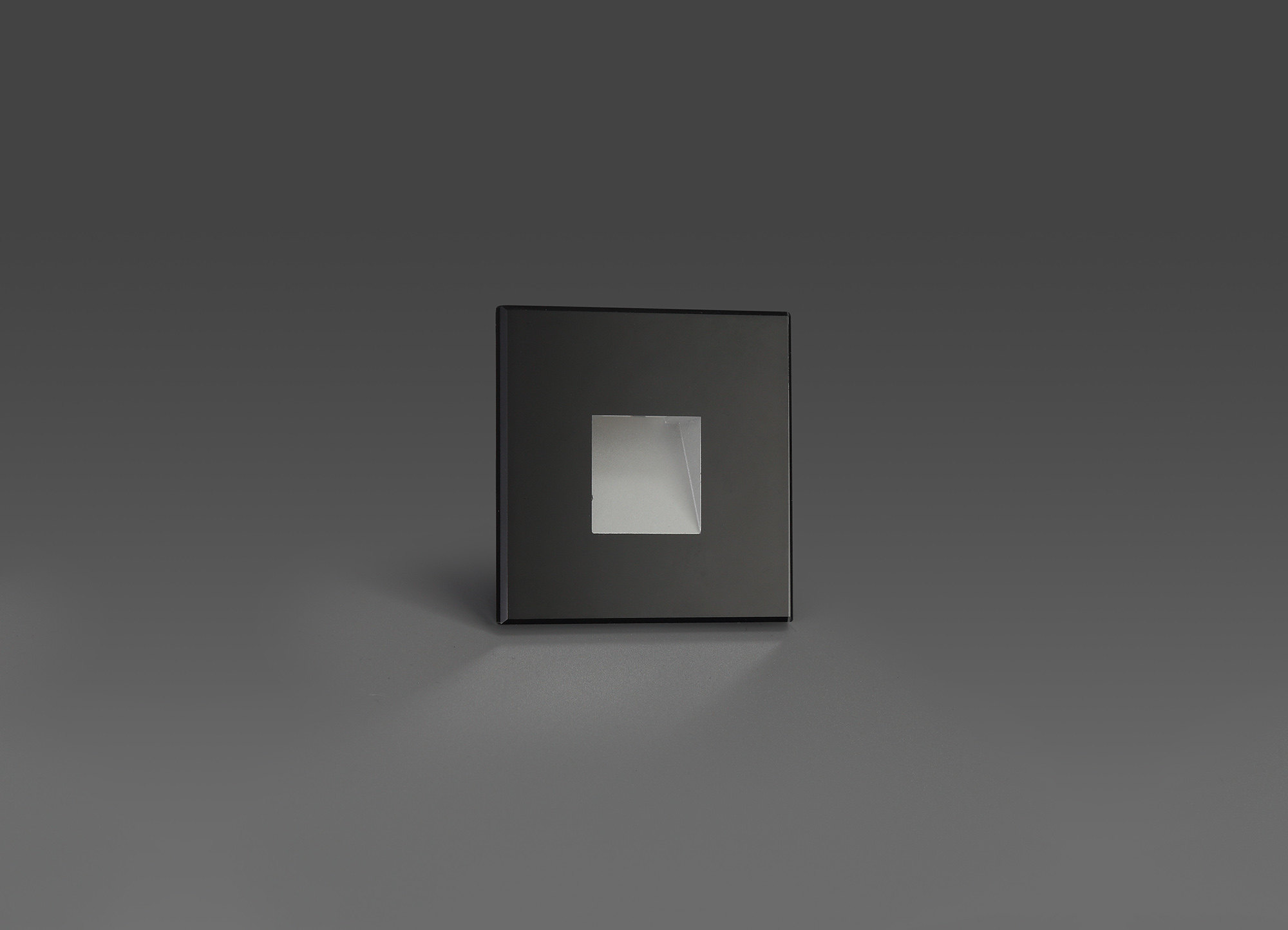 Recessed Square Glass Fronted Wall Lamp, 1 x 1.8W LED, 3000K, 70lm, IP65, 3yrs Warranty