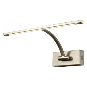 Small 1 Arm Wall Lamp/Picture Light, 1 x 6W LED, 3000K, 470lm, 3yrs Warranty