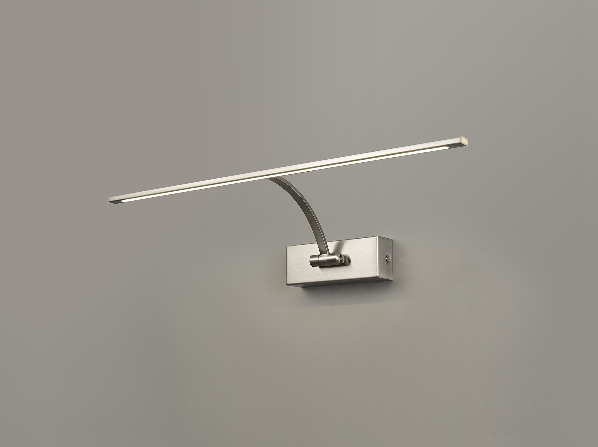 Large 1 Arm Wall Lamp/Picture Light, 1 x 10W LED, 3000K, 850lm, 3yrs Warranty