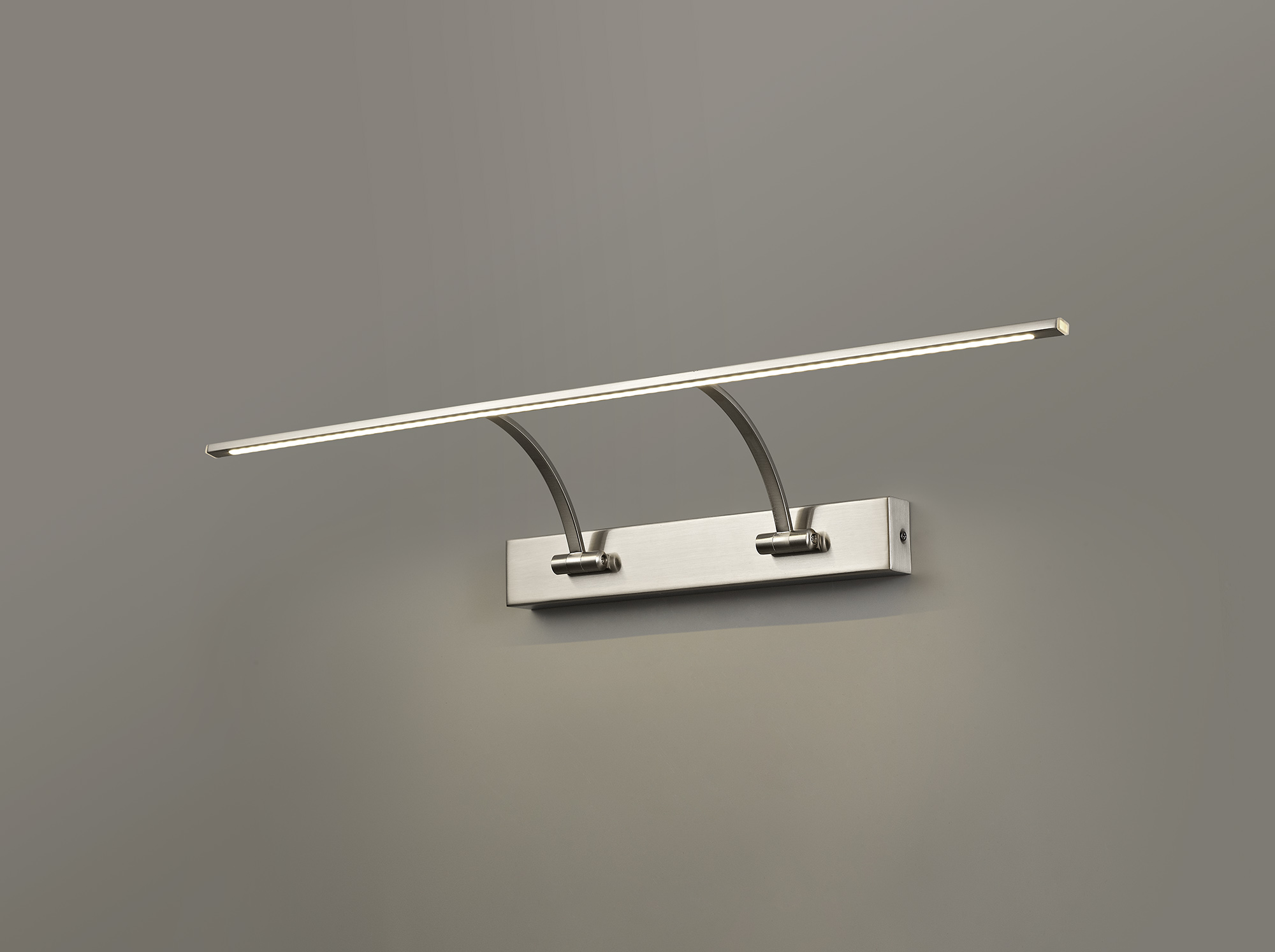 Small 2 Arm Wall Lamp/Picture Light, 1 x 14W LED, 3000K, 1070lm, 3yrs Warranty