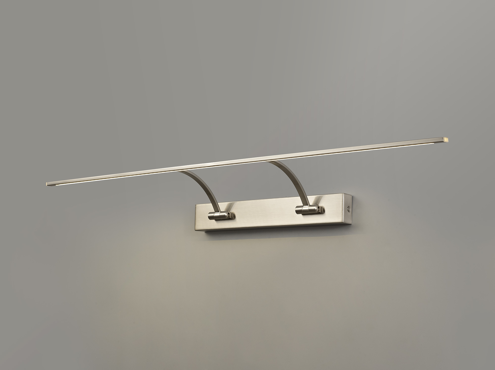 Large 2 Arm Wall Lamp/Picture Light, 1 x 16W LED, 3000K, 1200lm, 3yrs Warranty