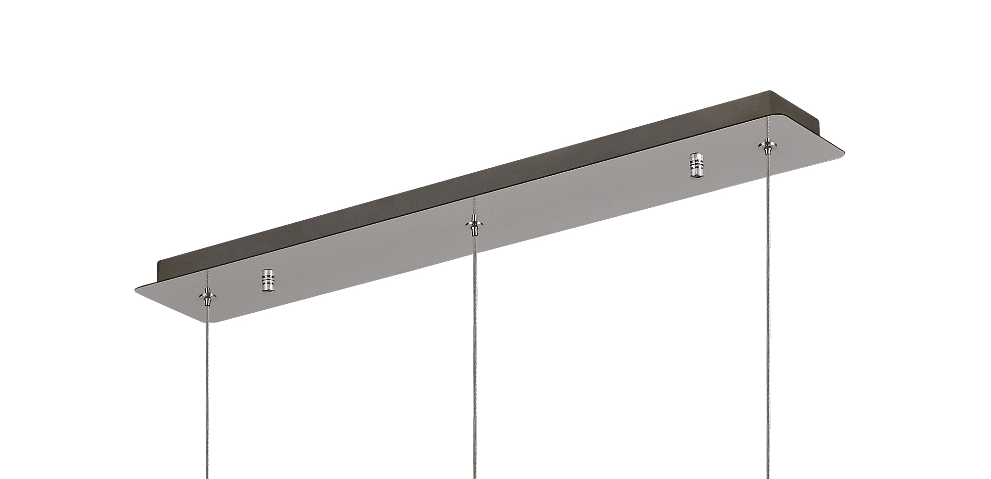Linear Pendant Bar, 3 x GU10, Polished Chrome