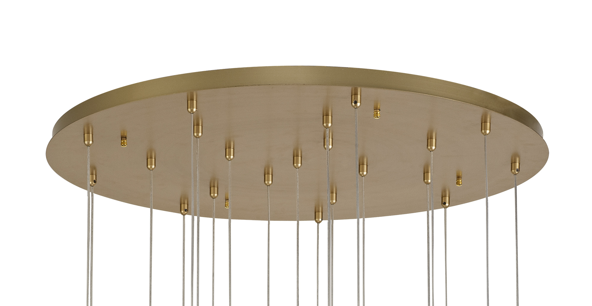Pendant Round 5M, 21 x 4.5W LED, 3000K, 3360lm, Painted Brushed Gold, 3yrs Warranty