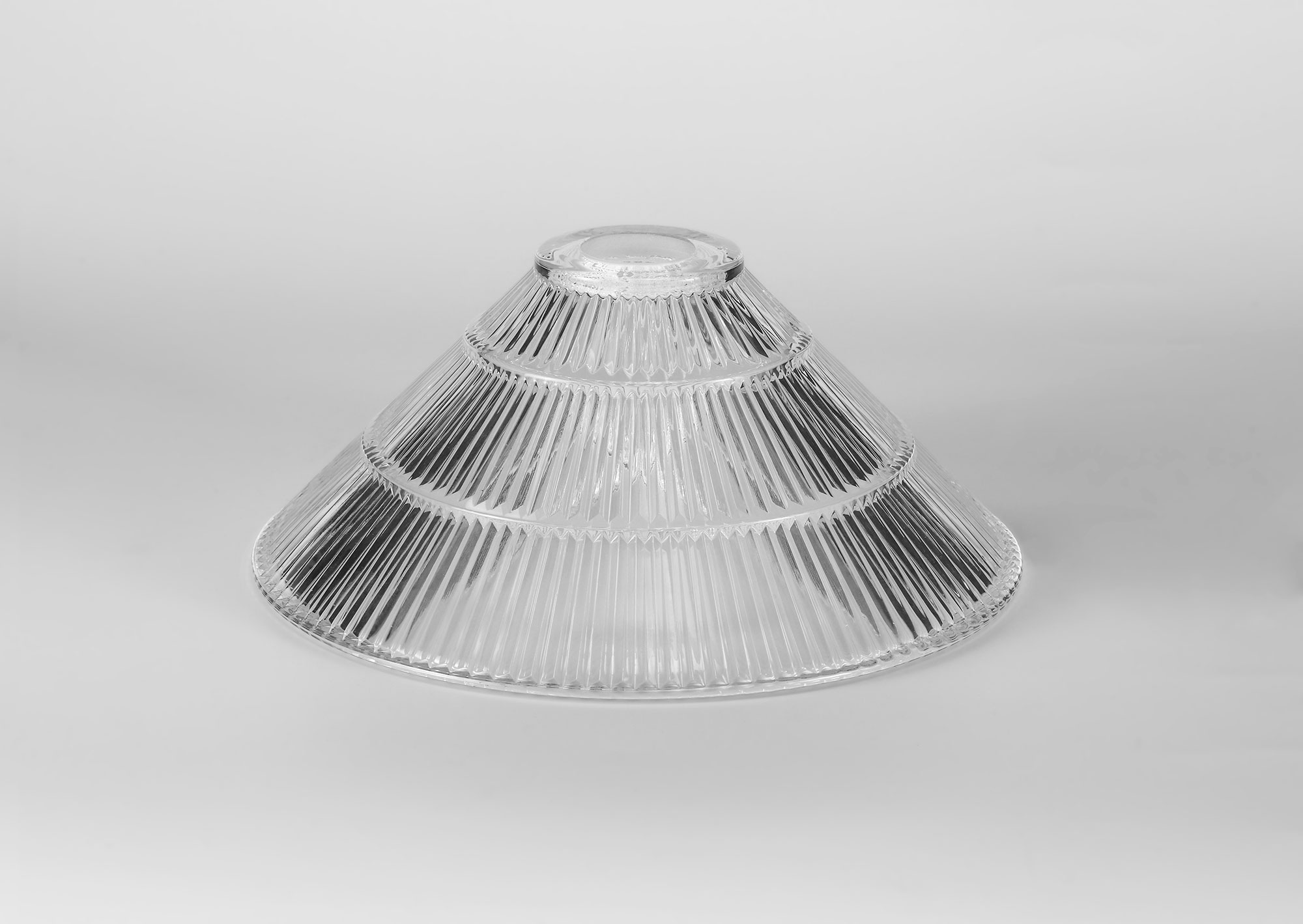 Cone 30cm Clear Glass Lampshade