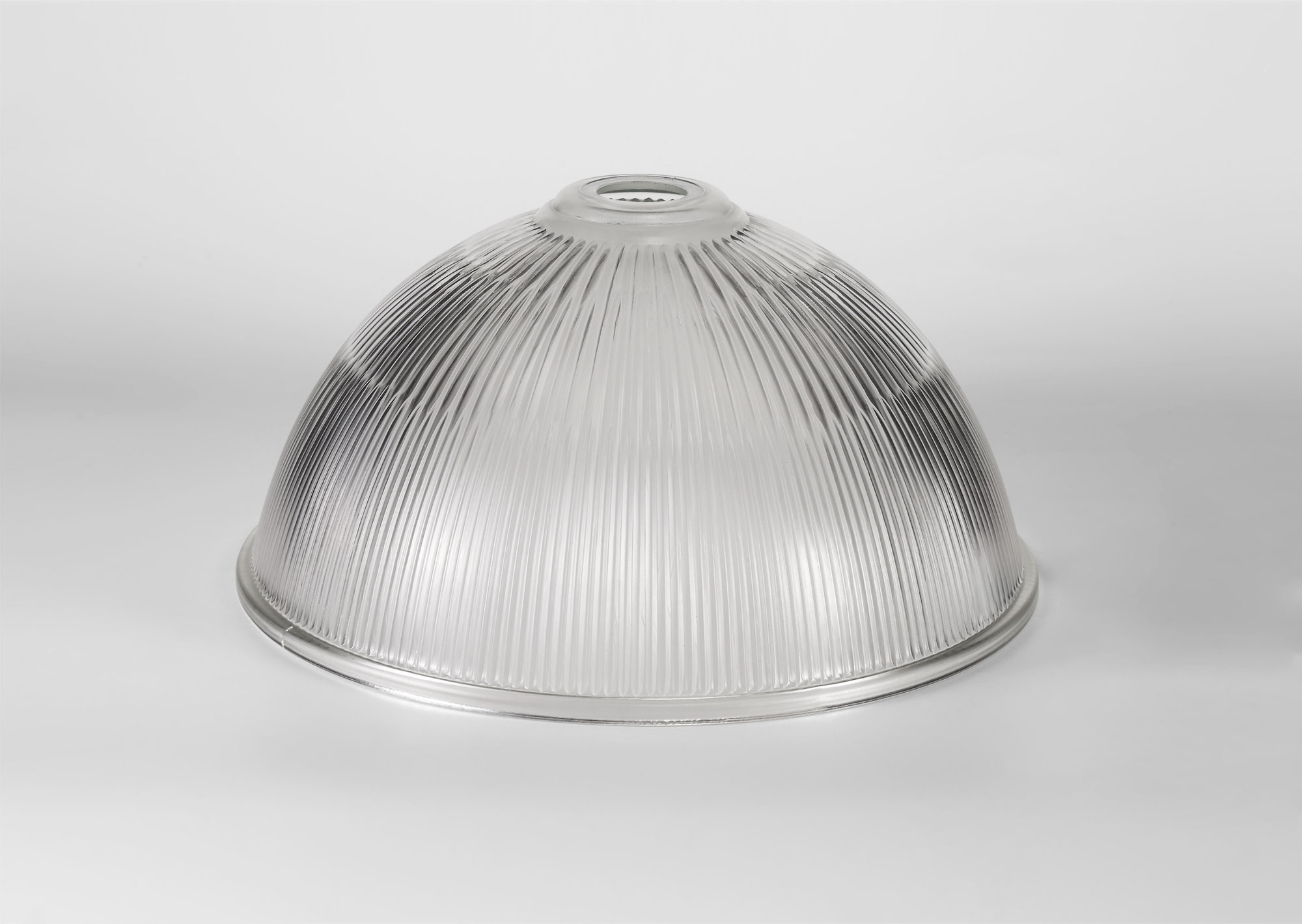 Dome 38cm Clear Glass Lampshade