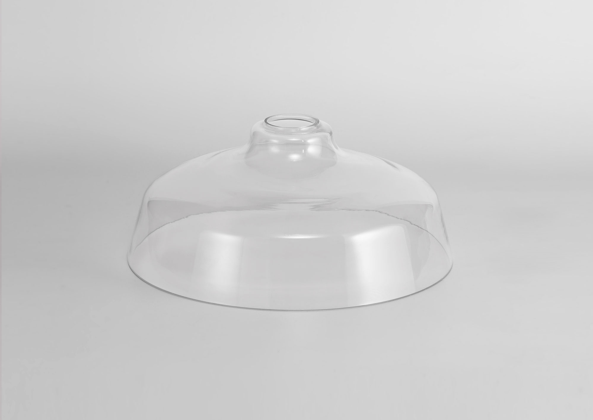 Flat Round 30cm Clear Glass Lampshade