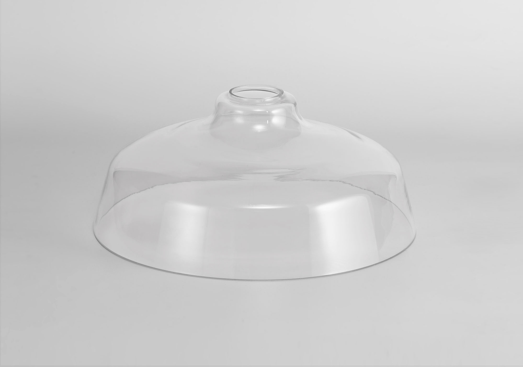 Flat Round 38cm Clear Glass Lampshade