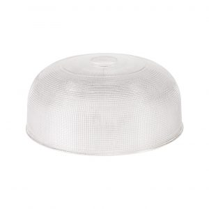 Round 26.5cm Prismatic Effect Clear Glass Lampshade