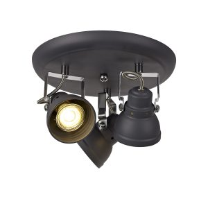 Adjustable Round Spotlight, 3 x GU10 (Max 10W LED)