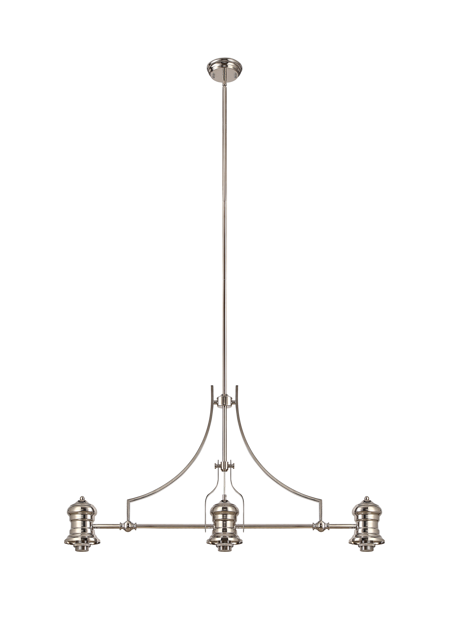 Linear Pendant With 38cm Patterned Round Shade, 3 x E27