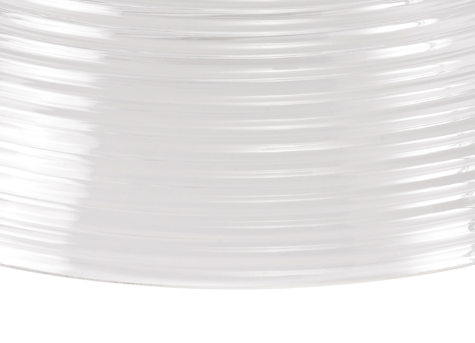 Round 33.5cm Prismatic Effect Clear Glass Lampshade