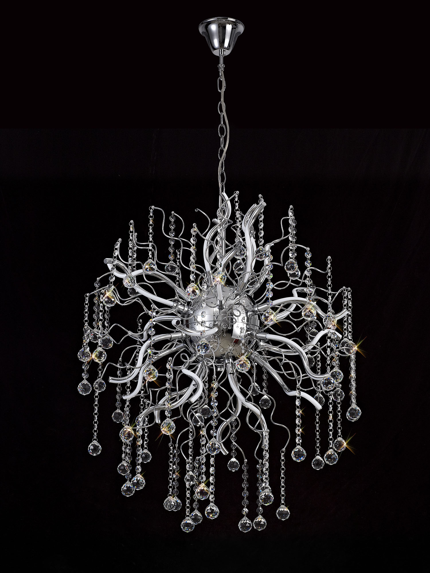 Dimmable Pendant, 24 x 1.7W LED, 3000K, 3150lm, Polished Chrome, 3yrs Warranty