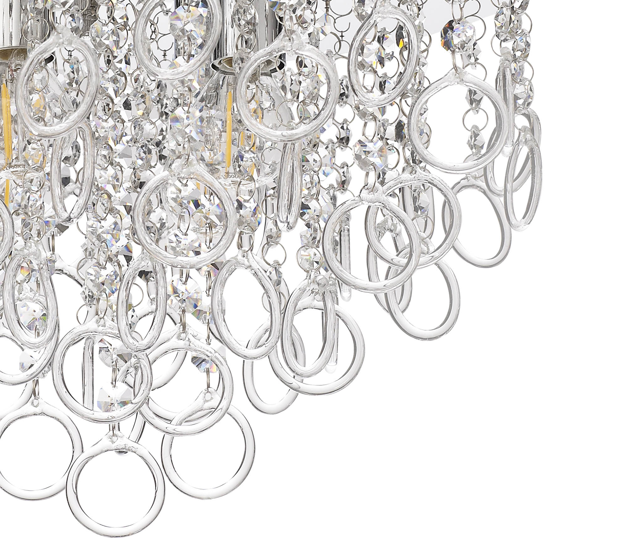 Ceiling, 4 Light E14, Polished Chrome/Crystal
