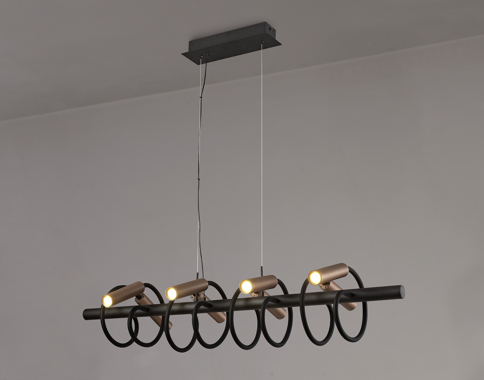 Linear Pendant, 8 Light Adjustable Arms, 8 x 4W LED Dimmable, 3000K, 2000lm, 3yrs Warranty