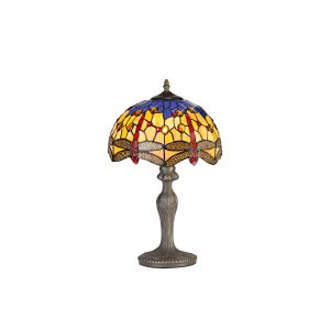 1 Light Curved Table Lamp E27 With 30cm Tiffany Shade