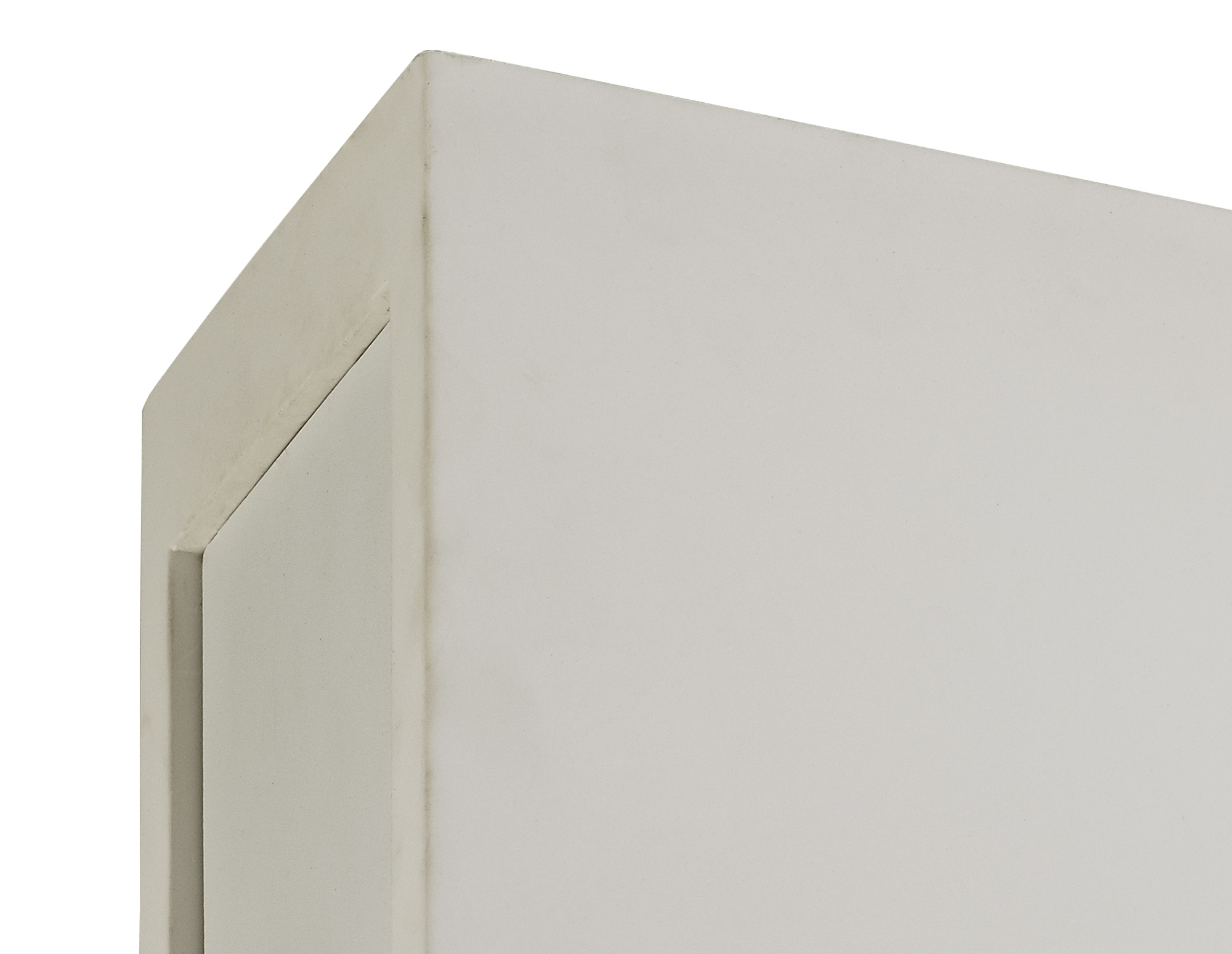 2 Light Rectangular Ceiling GU10, White Paintable Gypsum