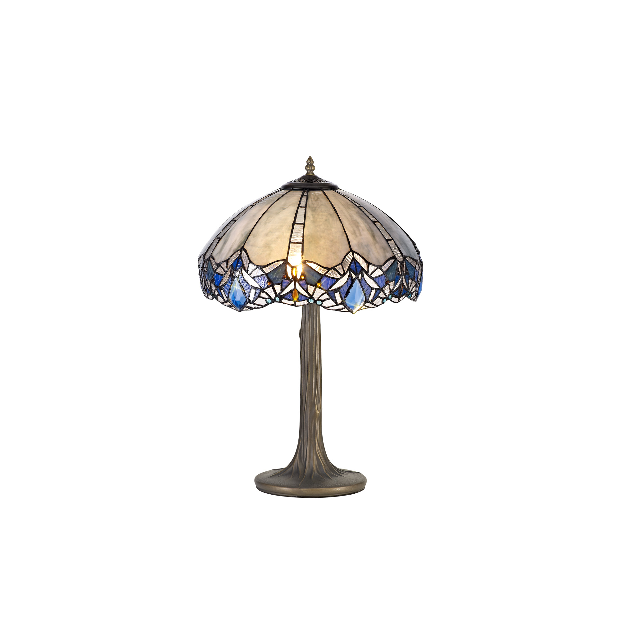 2 Light Tree Like Table Lamp E27 With 40cm Tiffany Shade