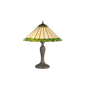 2 Light Curved Table Lamp E27 With 40cm Tiffany Shade