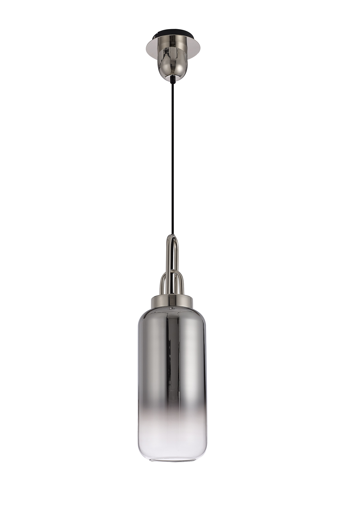 1 Light Pendant E27 With 30cm Cylinder Glass