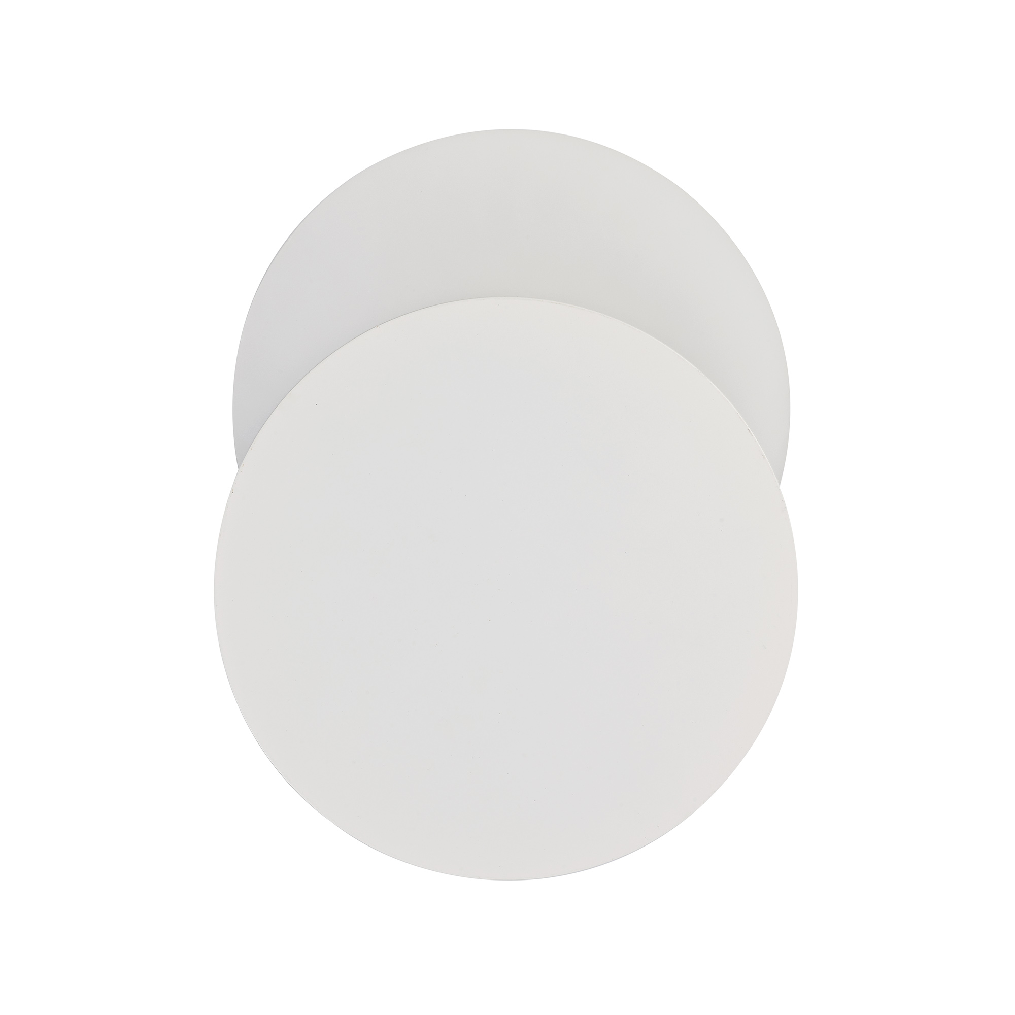 Magnetic Base Wall Lamp, 12W LED 3000K 498lm, 20/19cm Round Bottom Offset, Frosted Diffuser