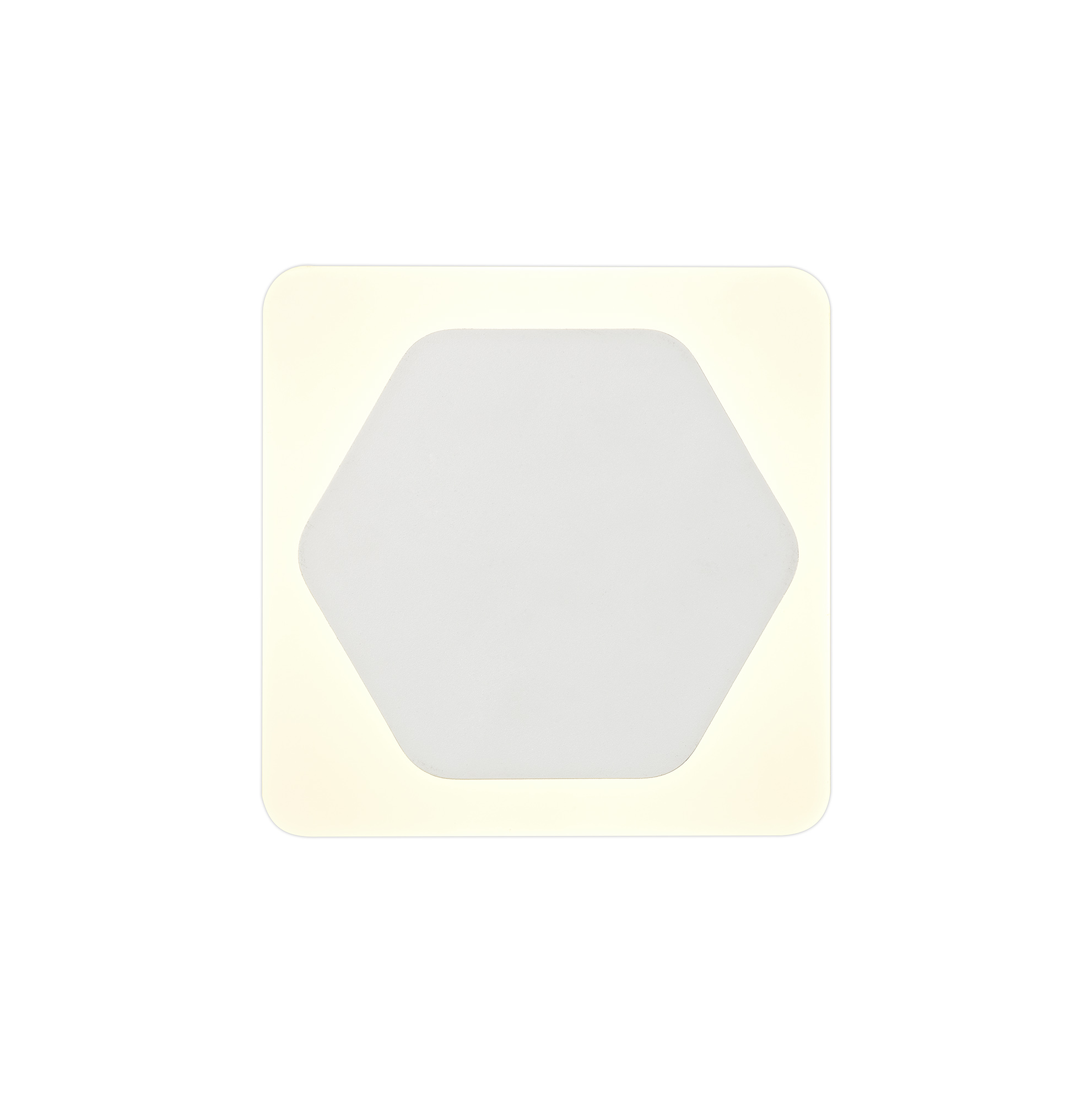 Magnetic Base Wall Lamp, 12W LED 3000K 498lm, 15/19cm Square Centre, Frosted Diffuser