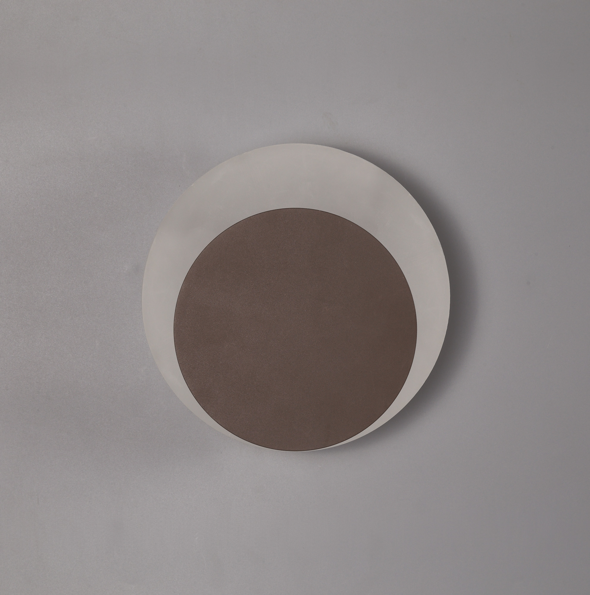 Magnetic Base Wall Lamp, 12W LED 3000K 498lm, 15/19cm Round Centre, Frosted Diffuser